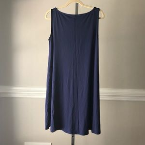 Eileen Fisher tent shift portrait dress M